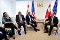 Secretary Kerry, Assistant Secretary Nuland, and Ambassador Kelly Sit with Georgian Foreign Minister Janelidze at the Chancellery in Tbilisi (28049086021).jpg