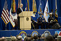 Secretary of Defense Chuck Hagel, at lectern, delivers remarks during the U.S. Strategic Command (USSTRATCOM) change of command ceremony Nov. 15, 2013, at Offutt Air Force Base, Neb 131115-D-BW835-297.jpg