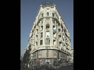 Qasr El Nil Street - The Beaux-Arts style Sednaoui Department Store, on eastern Qasr El Nil Street.