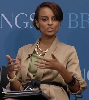 Semhar Araia - Araia speaking on the Somalia peace process at the Brookings Institution in Washington, D.C. (2011).