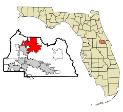 Seminole County Florida Incorporated and Unincorporated areas Sanford Highlighted.svg