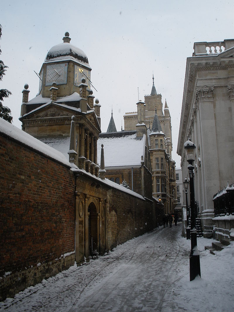 Senate House Passage in the snow.JPG