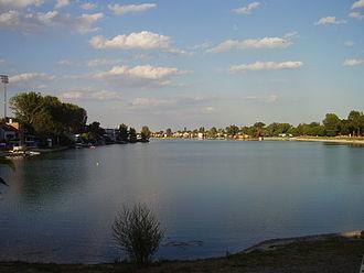 """Senec, Slovakia - Slnečné jazerá (""""Sunny Lakes"""") in Senec"""