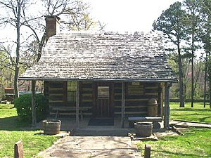 Sequoyah - Sequoyah's cabin in 2004, near present-day Sallisaw, Oklahoma