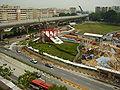 Serangoon Central CCL MRT works 20060409.jpg