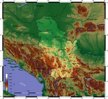 karta reljefa srbije Srbija – Wikipedija karta reljefa srbije