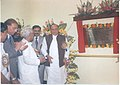 Shankarsinh Vaghela chating with Shri Buddhadeb Bhattacharya, Chief Minister, West Bengal, after inaugurating the new office building of the Textiles Committee at Salt Lake, Kolkata on February 15, 2006.jpg