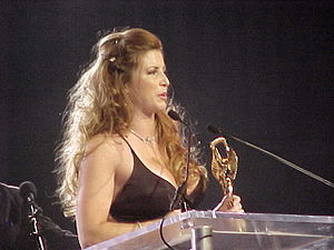 16th AVN Awards - Shanna McCullough accepting her award for Best Actress—Film