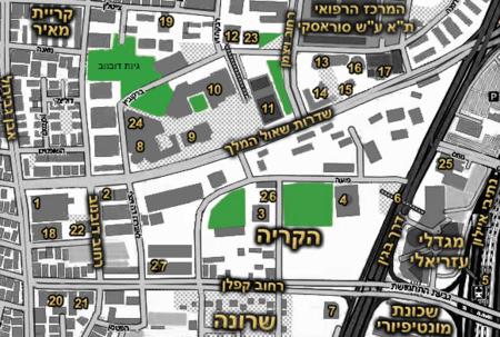 Shaul HaMelech Blvd map.png