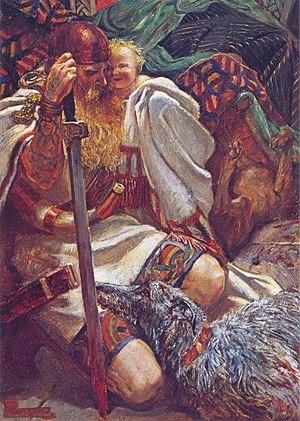 Gelert - Who Knoweth the Spirit of Man... by Byam Shaw (1901)