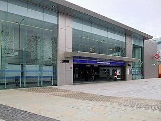 Shepherd's Bush tube station - The new station building opened in 2008