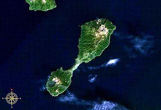 Shiashkotan - Landsat view of Shiashkotan Island