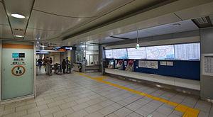 Shinjuku-sanchōme Station - Image: Shinjuku sanchome Fukutoshin Line ticket machines 20131116