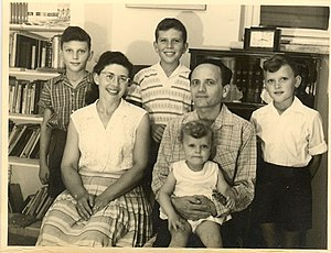 Sara Netanyahu - Sara on her father Shmuel Ben-Artzi's lap in 1960.