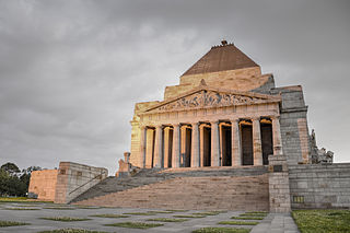 Shrine of Remembrance War memorial in Melbourne, Australia