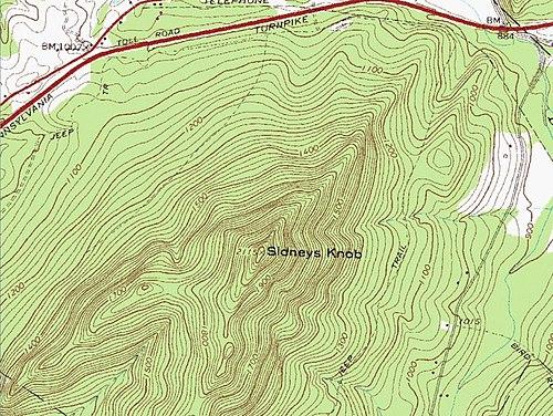 topographic map of appalachian mountains Sidneys Knob Wikipedia