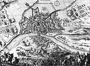 Siege of Montauban - Image: Siege of Montauban 1621 Merian 1646