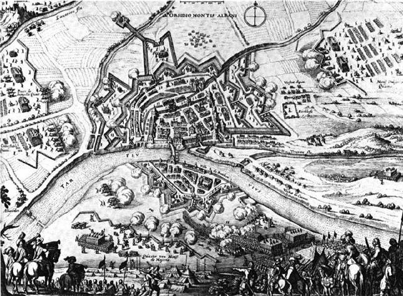 Protestants français des guerres de Rohan 1620-1629 - Page 2 800px-Siege_of_Montauban_1621_Merian_1646