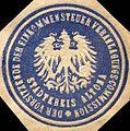 Siegelmarke Der Vorsitzende der Einkommensteuer Veranlagungs - Commission - Stadtkreis Altona W0215724.jpg
