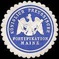 Siegelmarke Königlich Preussische Fortifikation Mainz W0223862.jpg