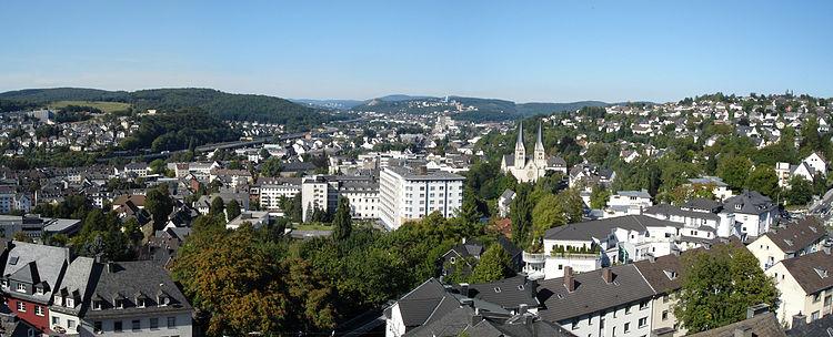 Siegen Aussicht Oberes Schloss Schlosspark