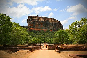 Kashyapa I of Anuradhapura - The Sigiriya rock and its surrounding gardens