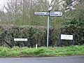 Sign posts at the W end of Link Road - geograph.org.uk - 747444.jpg