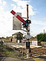 Signal by the level crossing on the A1065 - geograph.org.uk - 1516159.jpg