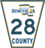 Simcoe Road 28 sign.png