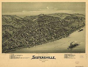 Sistersville, West Virginia - Map of Sistersville 1896