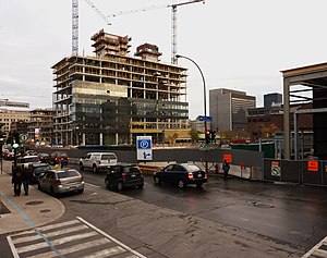 Centre hospitalier de l'Université de Montréal - Phase 1 under construction, 2011