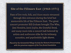 Site of the fillmore east
