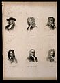 Six portraits of eminent seventeenth century men. Engraving. Wellcome V0006833.jpg