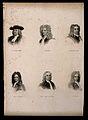 Six portraits of eminent seventeenth century men. Engraving. Wellcome V0006833.jpg