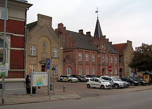 Skanderborg - Skanderborg police station in the former town hall
