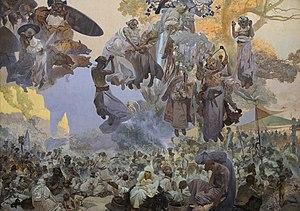 Svetovid - The Celebration of Svetovid on Rügen, Alphonse Mucha, The Slav Epic