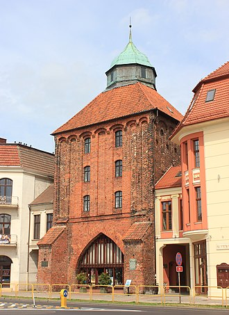Słupsk - The New Gate, dating back to the 14th century, served as the main entrance to the Old Town