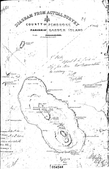 Smooth Island-Structures-Smooth Island - 1863 survey 1