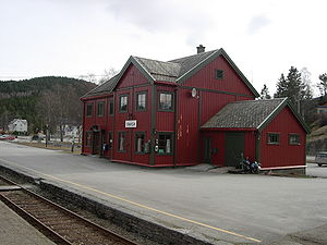 Snåsa Station - Image: Snåsa stasjon