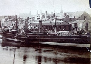 SS Snaefell (1863) - Image: Snaefell pictured at Douglas