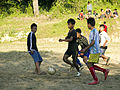 Soccer football informal in Manipur India cropped.jpg
