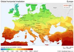 Solar Energy Simple English Wikipedia The Free Encyclopedia - Solar panel map us