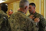 Soldier receives combat action badge on Christmas DVIDS503814.jpg