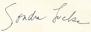 Sondra Locke - Image: Sondra Locke autograph signature