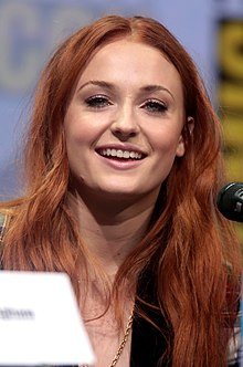 Sophie Turner - the beautiful, cute,  actress  with English roots in 2017