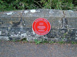 Photo of Red plaque number 7640