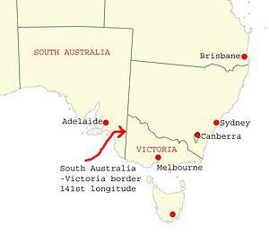 South Australia–Victoria border dispute - Image: South australia victoria border