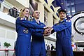 Soyuz MS-01 crew at the Gagarin Cosmonaut Training Center in Star City.jpg