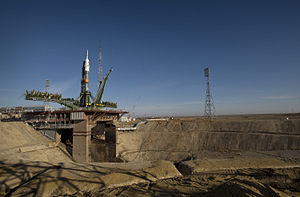 Baikonur Cosmodrome - Image: Soyuz expedition 19 launch pad