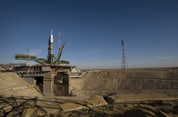 Baikonur Cosmodrome is the world's oldest and largest operational space launch facility. Soyuz expedition 19 launch pad.jpg